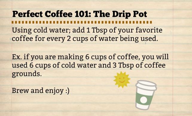Drip Pot-Recipe