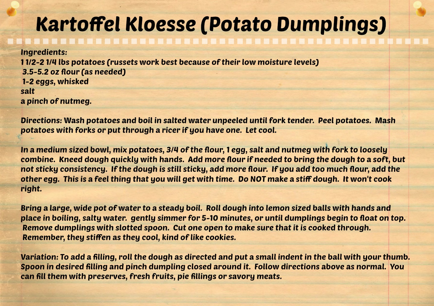 Potato dumplings-recipe