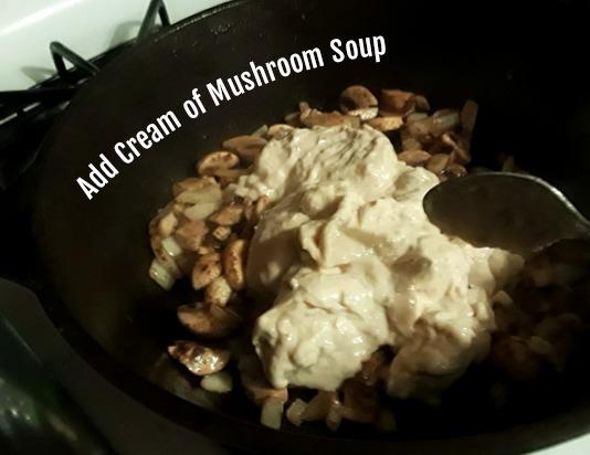 adding soup