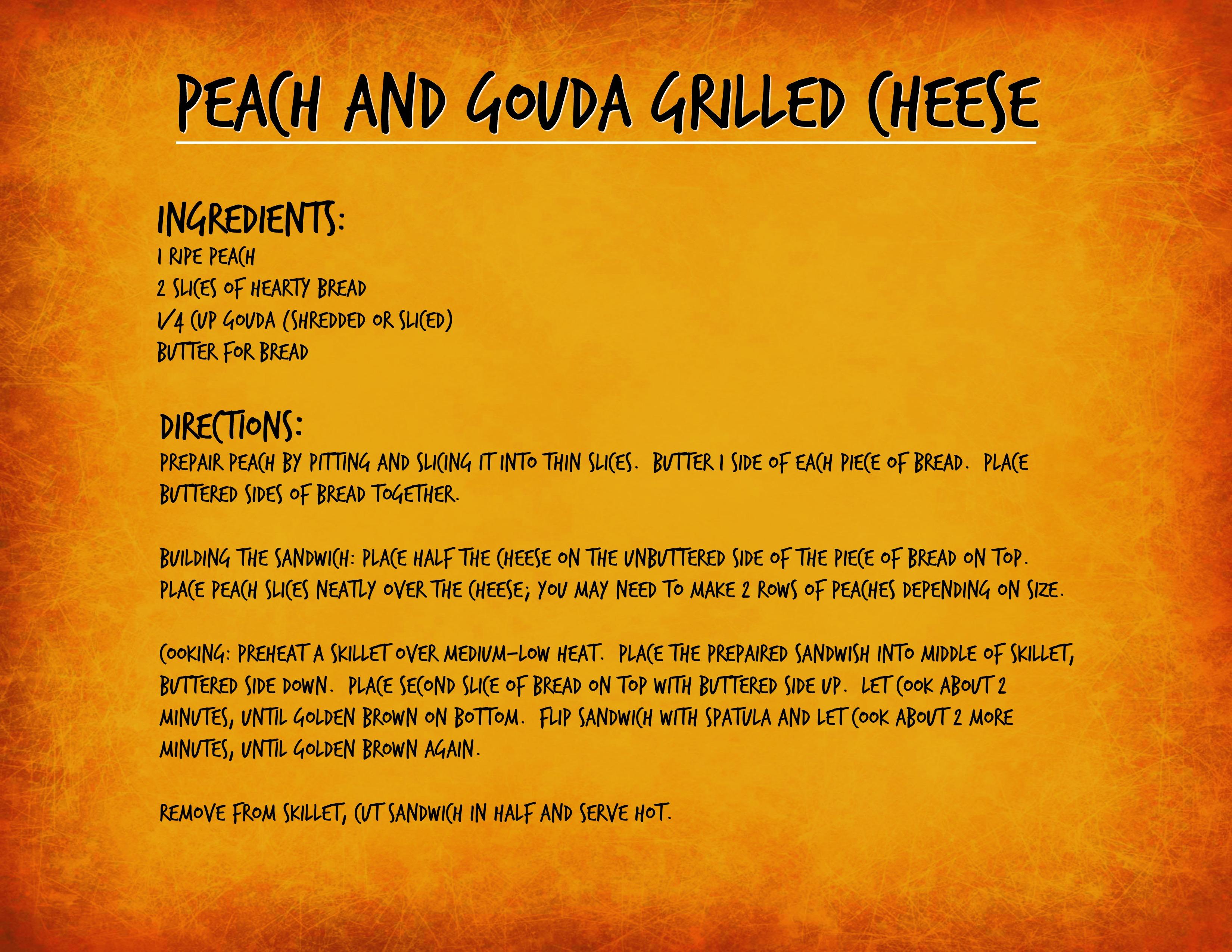 Peach and Gouda Recipe