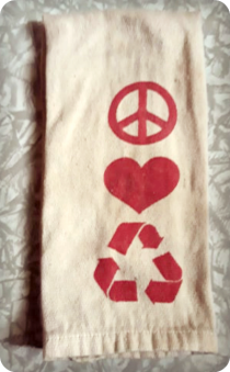 recycled towel front