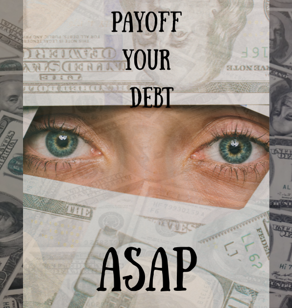 Inspiration and tips to pay off your debt fast from TreadlingHome.