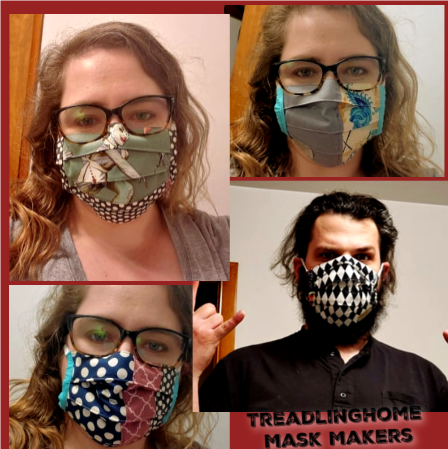 "TreadlingHome Handmade Masks.  ""Not"" for medical use, but better than a bandanna, right?"